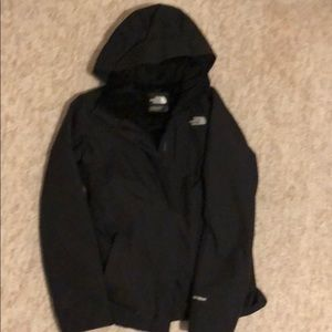 Black winter north face women's coat size S/p